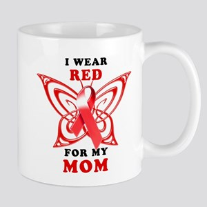 I Wear Red for my Mom Mug
